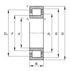 FAG محامل أسطوانية - NJ2304-E-XL-TVP2