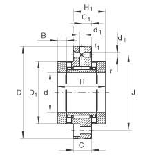 FAG إبرة بكرة / محوري أسطواني محامل - ZARF65155-TV