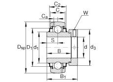 FAG شعاعي إدراج الكرات - G1015-KRR-B-AS2/V