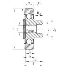 FAG مسمار نوع بكرات المسار - ZL204-DRS