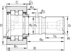 FAG مسمار نوع بكرات المسار - PWKR47-2RS-RR-XL