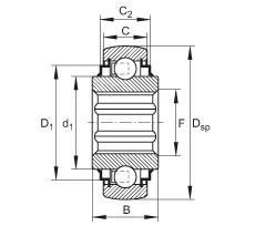 FAG Self-aligning deep groove ball bearings - SK014-205-KRR-B