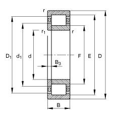 FAG محامل أسطوانية - NUP203-E-XL-TVP2