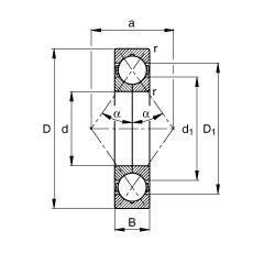 FAG أربعة محامل الاتصال نقطة - QJ214-XL-TVP