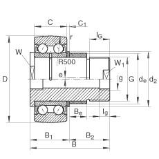 FAG مسمار نوع بكرات المسار - ZLE5205-2Z