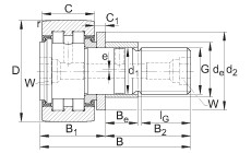 FAG مسمار نوع بكرات المسار - PWKRE35-2RS