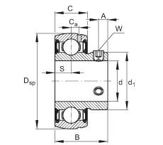 FAG شعاعي إدراج الكرات - SUB205