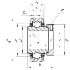 FAG شعاعي إدراج الكرات - GE20-XL-KTT-B