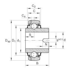 FAG شعاعي إدراج الكرات - GLE25-XL-KRR-B