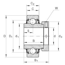 FAG شعاعي إدراج الكرات - E35-XL-KLL
