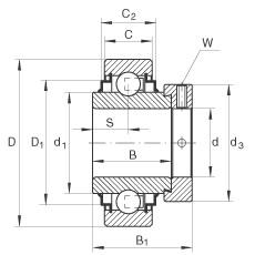 FAG شعاعي إدراج الكرات - E20-XL-KRR