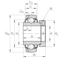 FAG شعاعي إدراج الكرات - GE35-XL-KLL-B