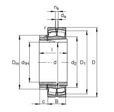 FAG محامل كروية - 22207-E1-XL-K + H307