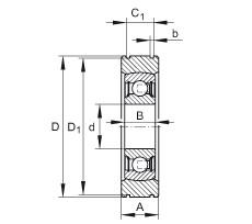 FAG شعاعي إدراج الكرات - BE20-XL