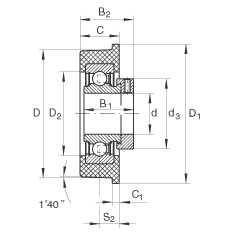 FAG شعاعي إدراج الكرات - CRB25/70-XL