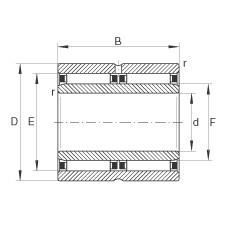 FAG محامل إبرة - NAO25X42X32-ZW-ASR1-XL