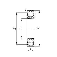 FAG برميل محامل - 20213-K-TVP-C3