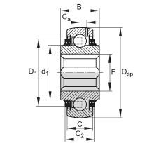 FAG Self-aligning deep groove ball bearings - VK100-208-KTT-B-AH10