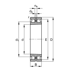 FAG محامل أسطوانية - NN3006-AS-K-M-SP