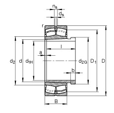 FAG محامل كروية - 22211-E1-XL-K + AHX311