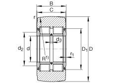 FAG نير نوع بكرات المسار - NNTR65X160X75-2ZL