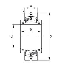 FAG محامل كروية - 222SM65-TVPA