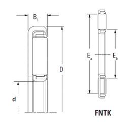 المحامل FNTK-1228 Timken