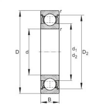 FAG الأخدود العميق الكرات - 6205-2Z
