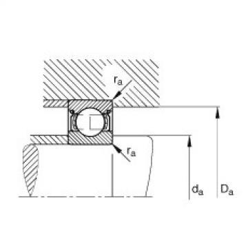 FAG الأخدود العميق الكرات - 6204-2Z