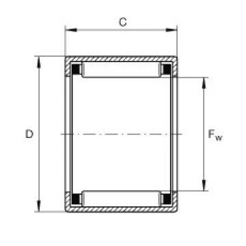 FAG تعادل كأس إبرة محامل مع نهاية مفتوحة - SCE107-1/2