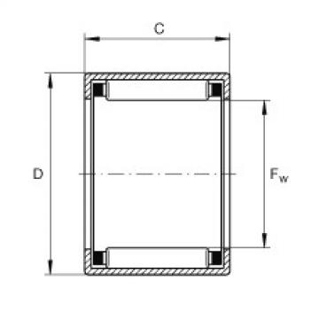 FAG تعادل كأس إبرة محامل مع نهاية مفتوحة - SCH1016