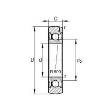 FAG بكرات الجنزير - LR205-2RSR