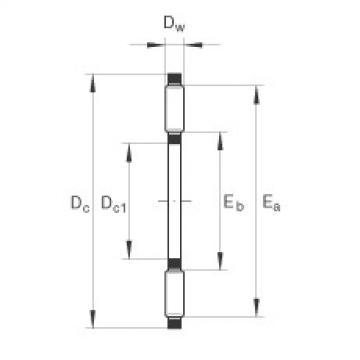 FAG محامل إبرة محوري - TC1828