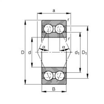 FAG الزاوي الاتصال الكرات - 3306-BD-XL-TVH