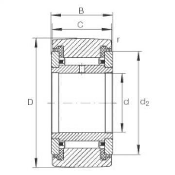 FAG نير نوع بكرات المسار - NATR25-PP