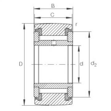 FAG نير نوع بكرات المسار - NATV20-PP