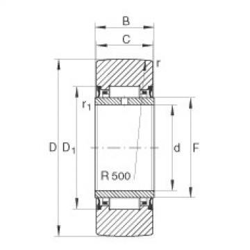FAG نير نوع بكرات المسار - NA2202-2RSR
