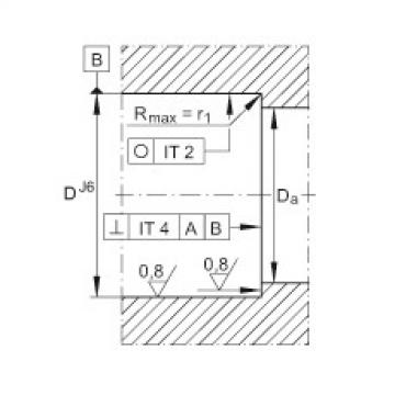 FAG محوري الزاوي الاتصال الكرات - ZKLN2052-2RS-XL