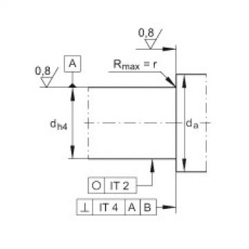 FAG محوري الزاوي الاتصال الكرات - ZKLN3572-2RS-XL