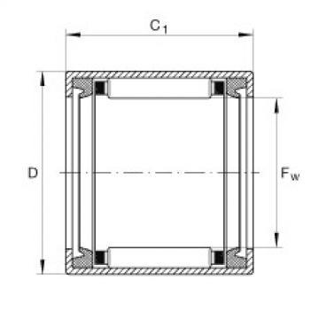FAG تعادل كأس إبرة محامل مع نهاية مفتوحة - SCE1414-PP