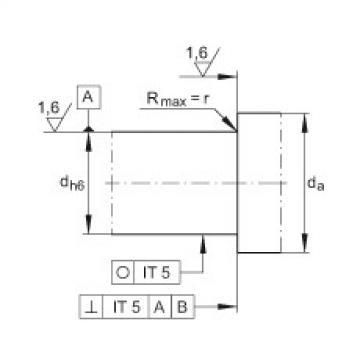FAG محوري الزاوي الاتصال الكرات - ZKLN1545-2RS-PE