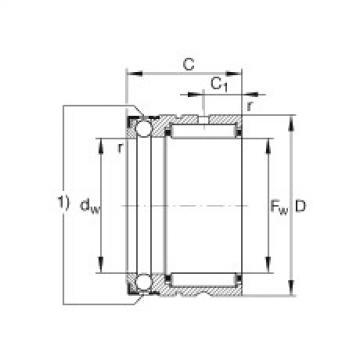 FAG إبرة بكرة / محوري الكرات - NX25-XL