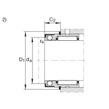 FAG إبرة بكرة / محوري الكرات - NX17-XL