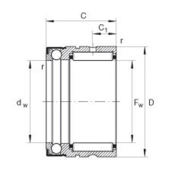 FAG إبرة بكرة / محوري الكرات - NX25-Z-XL
