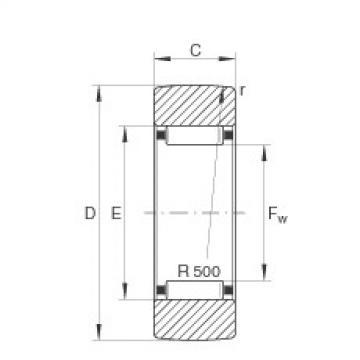 FAG نير نوع بكرات المسار - RSTO17