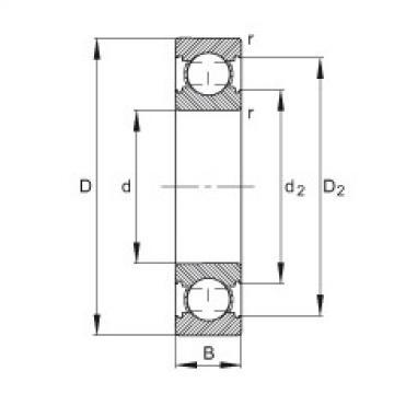 FAG الأخدود العميق الكرات - 6206-C
