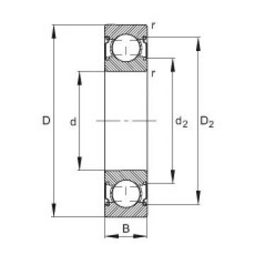 FAG الأخدود العميق الكرات - 6206-C-2Z