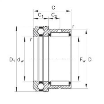 FAG إبرة بكرة / محوري الكرات - NKX70-XL