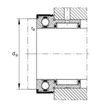 FAG إبرة بكرة / محوري الكرات - NKX17-Z-XL