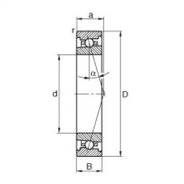 FAG محامل المغزل - HS71904-C-T-P4S